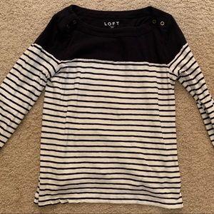 🚨5/$20!! Loft long sleeve striped shirt